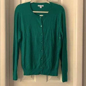 New York and Company new Green Snap cardigan XL